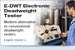 E-DWT Electronic Deadweight Tester - Standard Pressure Calibration