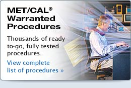 MET/CAL Warranted Procedures
