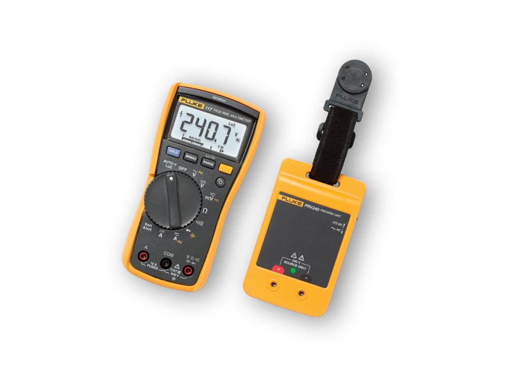 FLUKE-117 Digital Multimeter and PRV240 Kit