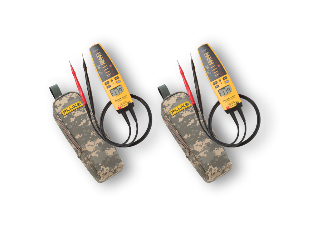 2-T+ Pro Electrical Testers w/Camo-37 cases