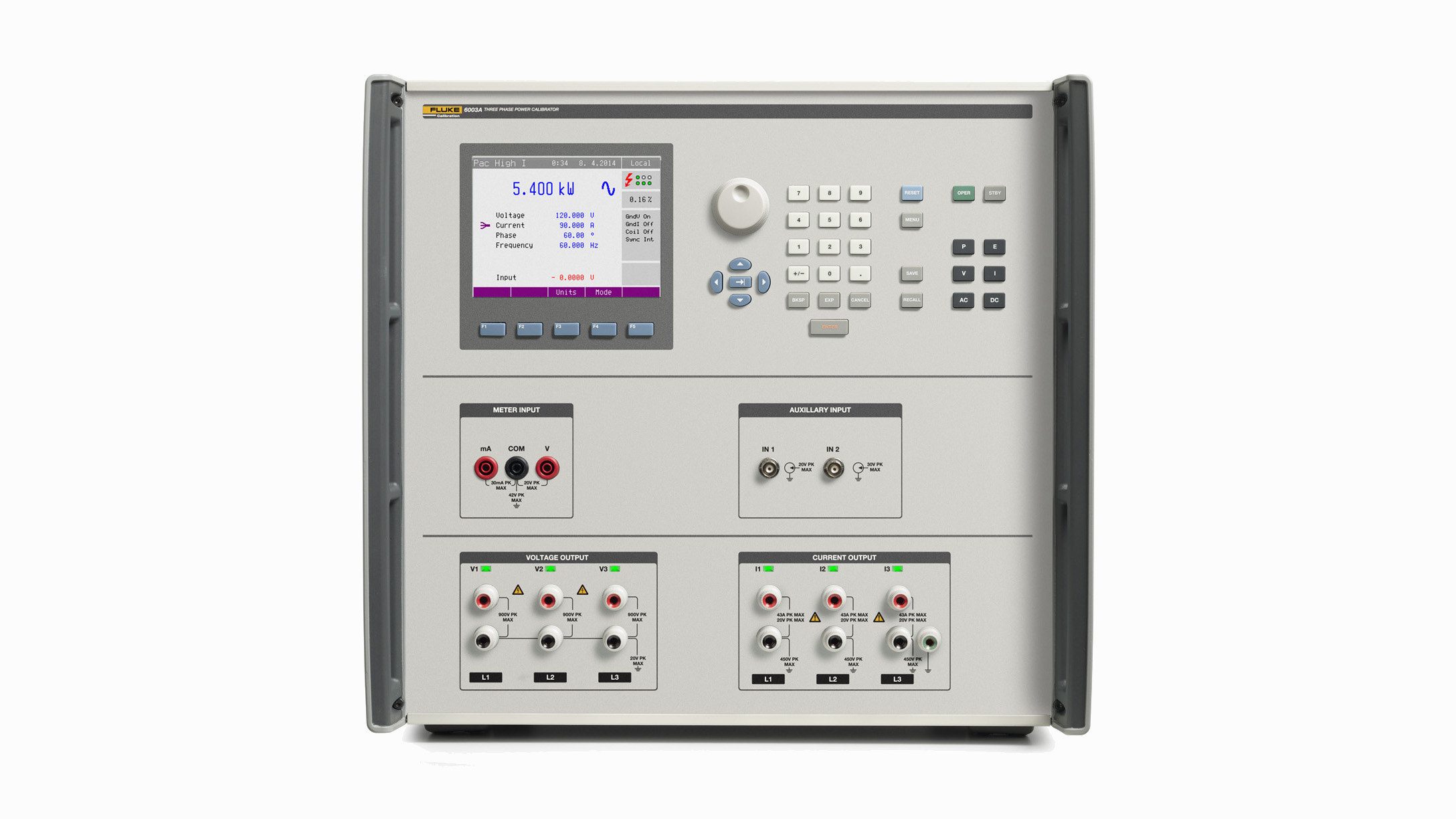 6003A Three Phase Electrical Power Calibrator